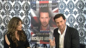Richard Armitage accepting his award for The Anglophile Channel's Favorite British Artist of the Year! I can't wait for you to hear his acceptance speech, it was SO heartfelt and sincere. A true class act, Mr. Armitage (but a cheater at 'office chair racing' ...more on that later!)